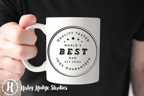 Worlds Best Dad Coffee Mug  ------------DETAILS------------  Design is printed on both sides of the mug - so the design can be seen no matter which hand youre holding it in. Size: 11 oz or 15oz Material: Ceramic, dishwasher (top rack) and microwave safe Colours: As shown (note: due to variations in computer monitor configuration, colours may vary slightly)  ------------HOW TO ORDER------------  - Select the mug size  - Include the year you would like on your mug in the notes section during…