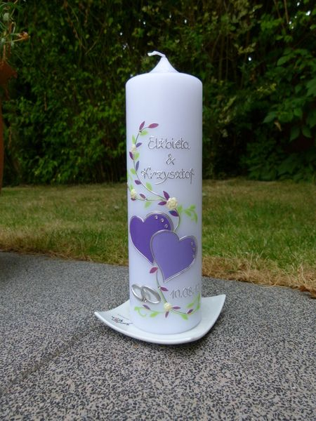 Hochzeitskerze  von taufkerzen-waltrop auf DaWanda.com