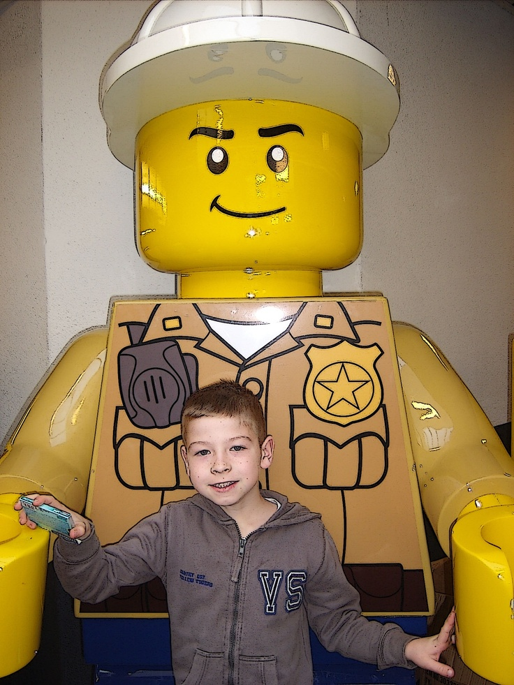 Dinand bij Legoworld in Zwolle