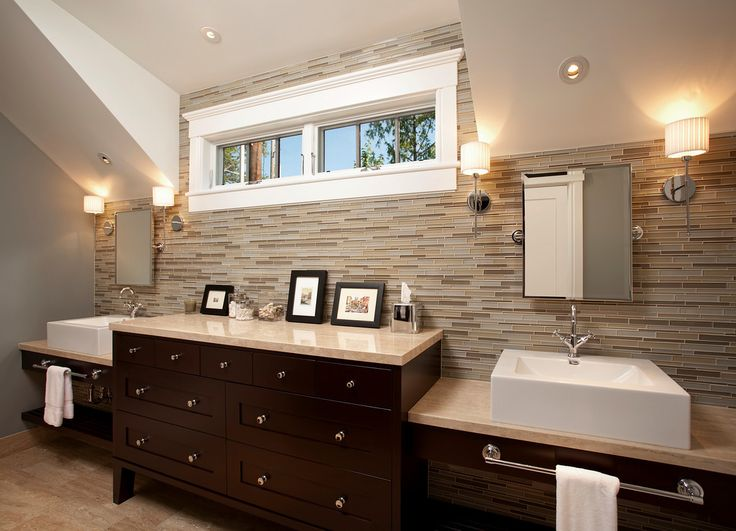 Transitional Bath with stylish color combinations! #TeerlinkCabinet #bathrooms #cabinets #home