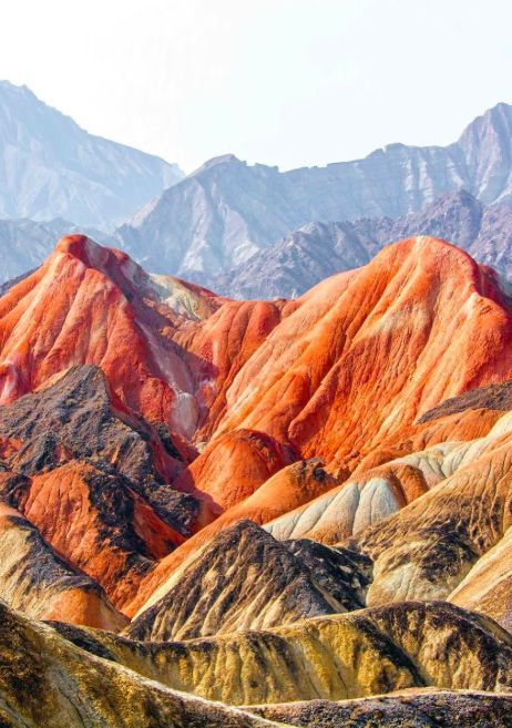 The Zhangye Danxia Landscape in #China is Mother Nature's imagination at its finest. #LiveIntrepid