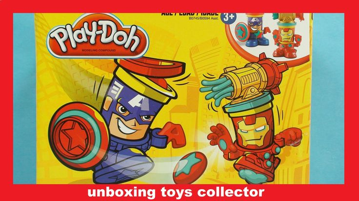Play-Doh Can-Heads FunToys Review Captain America and Iron Man Learn Col...