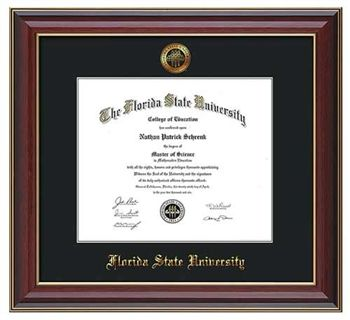 florida state university diploma frame this cherry lacquer diploma frame features a gold leaf embossed - Diploma Frames Target