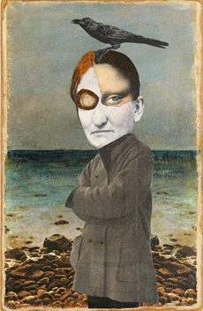 """Kass Copeland, """"Ursula Witchlow"""", Collage/Painting"""
