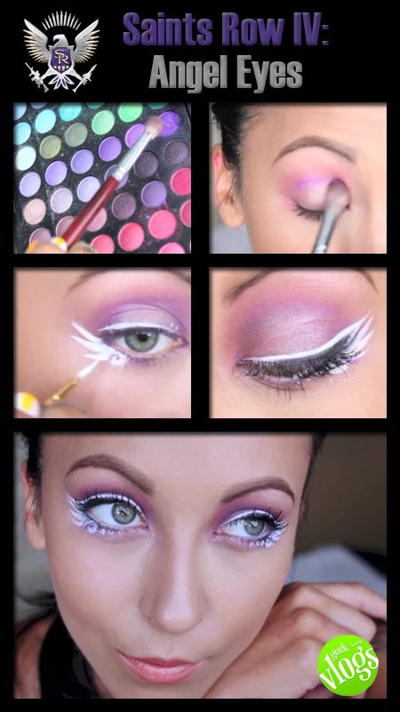 Gamer Makeup Tutorial: Saint's Row Angel Eyes! Click the pic for the full tutorial! gaming, gamer, makeup, makeup tutorial