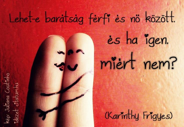 Karinthy kérdésfelvetése a férfi és nő közötti barátságról.