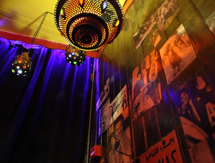 Cafecairo - Egypt themed restaurant -  the venue features its very own Cairo constructed tent, tranquil shisha garden, mini dressing room, a travellers' lounge with boardgames, chess and a roaring fire, as well as a basement bar with stage and piano for full frivolity.
