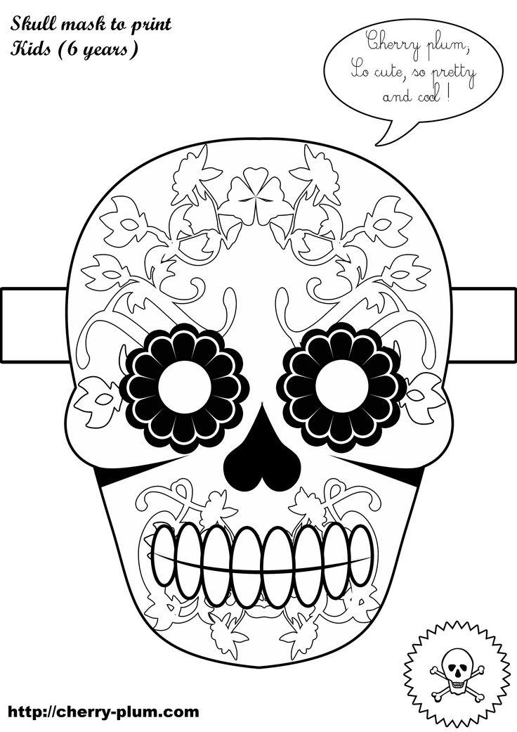 Dia De Los Muertos Free Printables Dia de and Free printable - copy dia de los muertos mask coloring pages