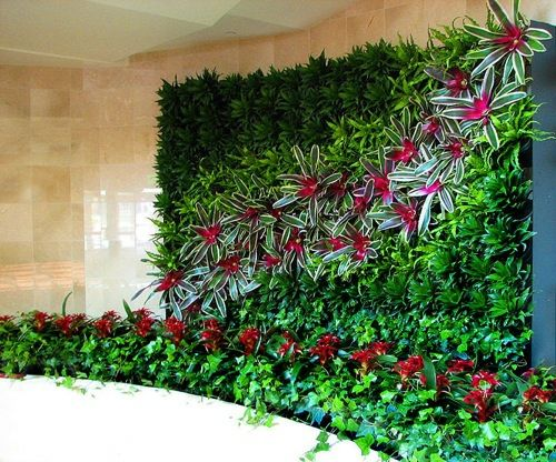 Elegant Gr ner Garten im Innenraum bunte Wanddekoration