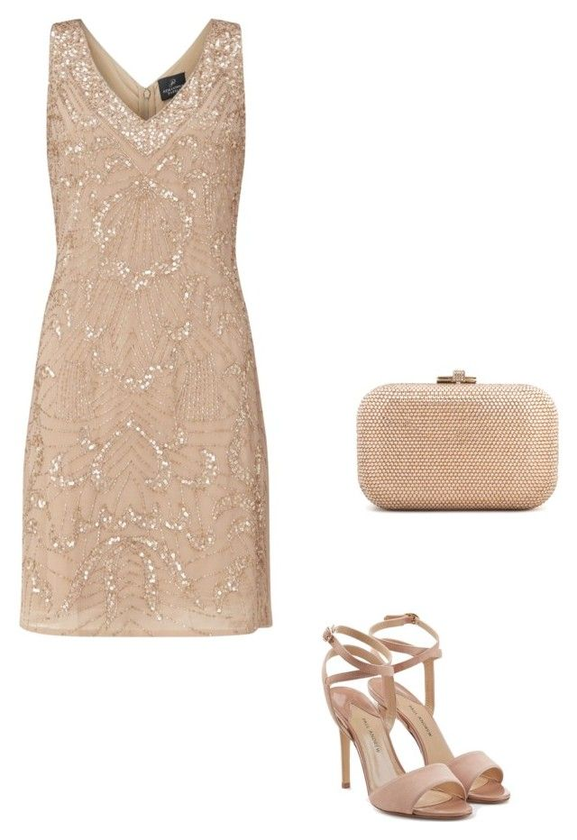 """Untitled #2"" by lhh-ph on Polyvore featuring Adrianna Papell, Paul Andrew and Judith Leiber"