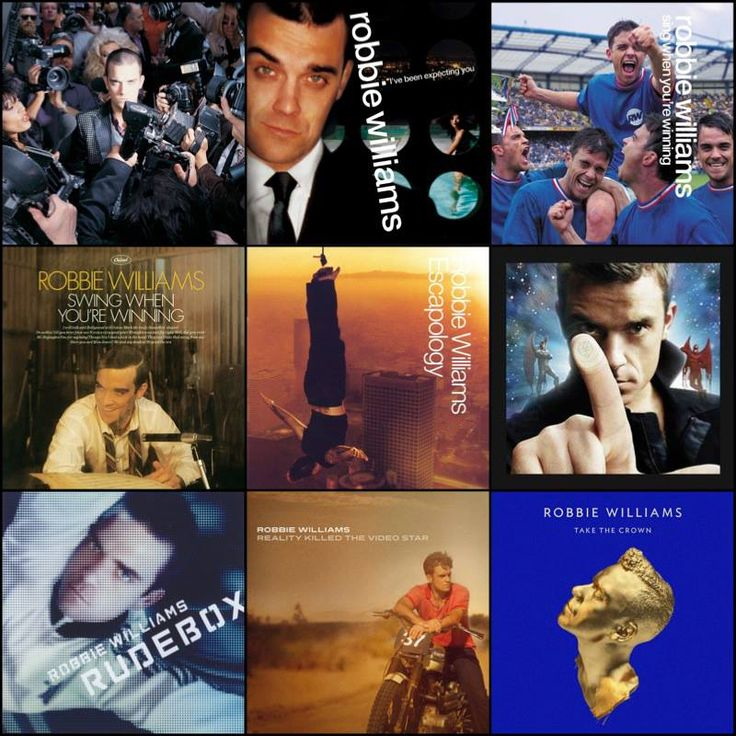 Studio albums over the years...  by https://www.facebook.com/robbiewilliams