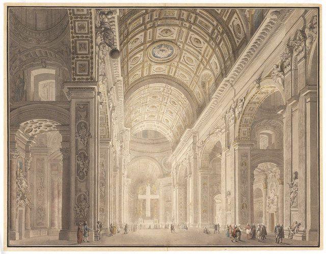 Giovanni Paolo Panini   Interior of St. Peter's Illuminated (ca. 1787)   Artsy