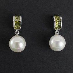Aretes Zirconia y Perlas Majorica
