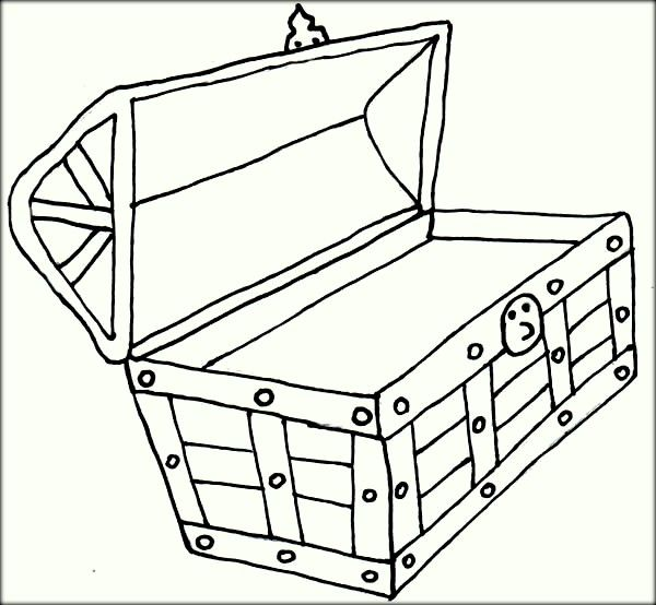Open Treasure Chest Coloring Pages Coloring Pages To Print