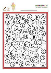 Písmenká pre prvákov - pracovné listy