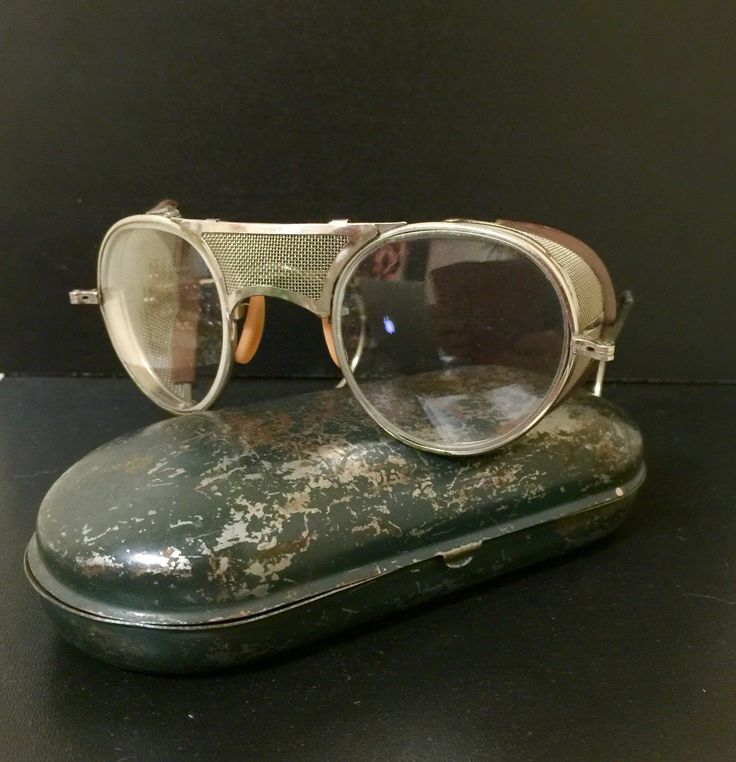 The beauty of yesteryear  Safety glasses 1900  Metal mesh eyebrow & nose guard $150