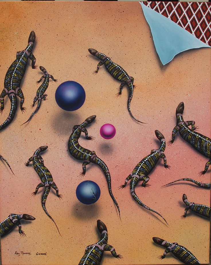 Inquisitive Lizards Acrylic on canvas