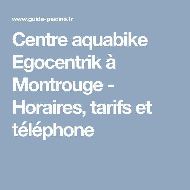 Centre aquabike Egocentrik à Montrouge  - Horaires, tarifs et téléphone