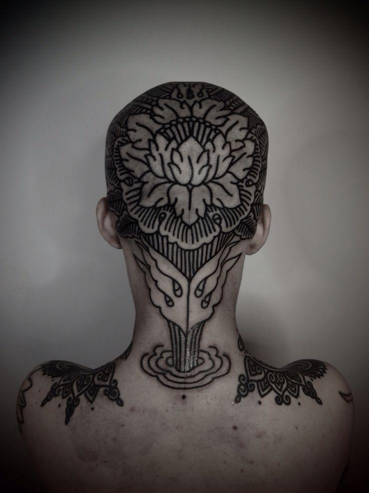 Mehndi Nape Tattoo : Best images about collar neck head tattoo ideas on