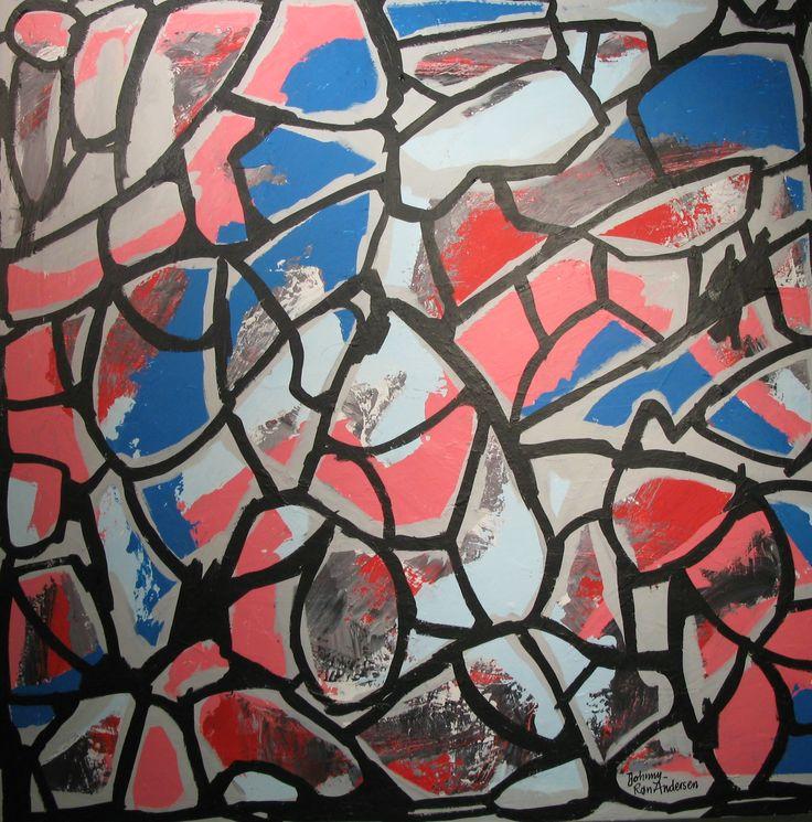 Maleri djazz 90x90 cm