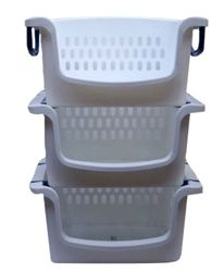 Stackable Carry Bins (Set of 3) Products For College Dorm Room Shopping Laundry Essentials School