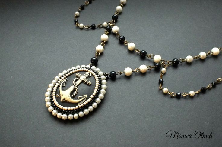 """'Where's My Heart's Anchor?"""" necklace by Monica Otmili"""