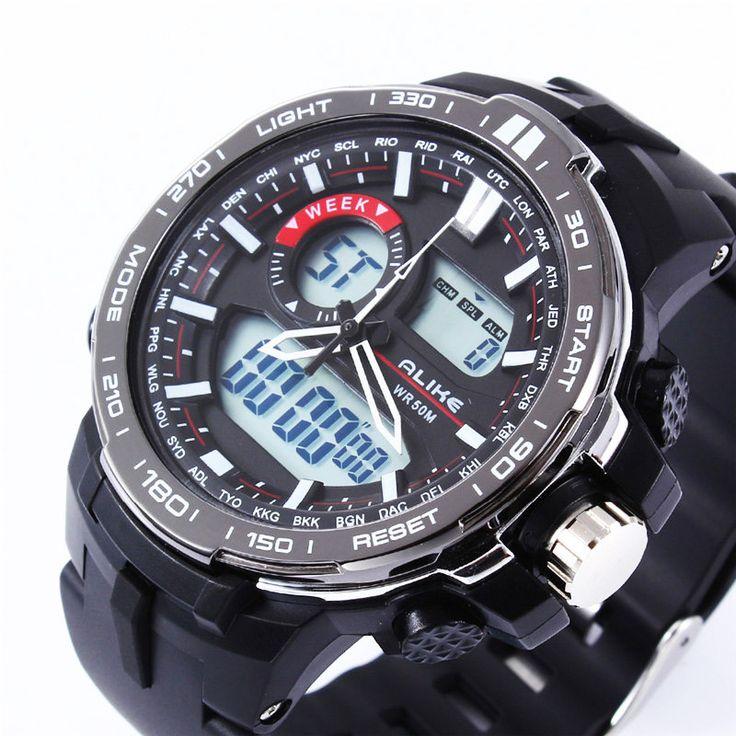 Digital-watch Men LED Digital Military S Shock Watch Dive Men's Sports.