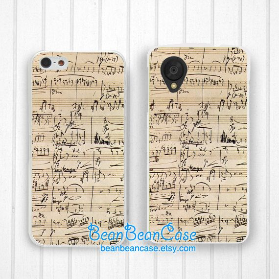 Vintage Music Sheet Case  Lg Google Nexus 5 / 4 by BeanBeanCase, $8.99