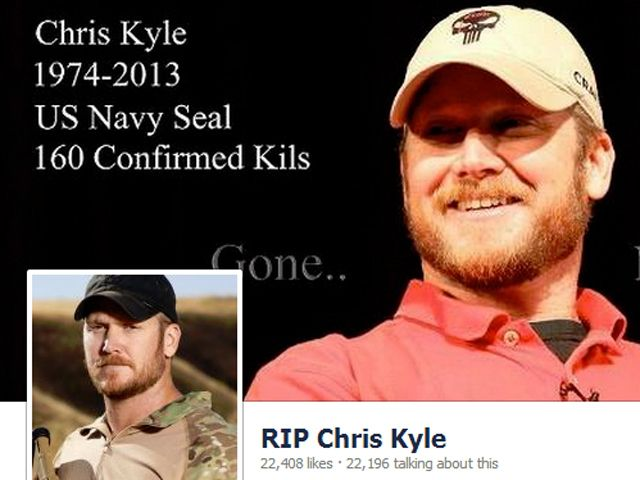 Navy Seal, Chris Kyle ... may you rest in peace