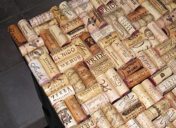 wine cork bar top! | Cheap and cool home DIY ideas | Pinterest