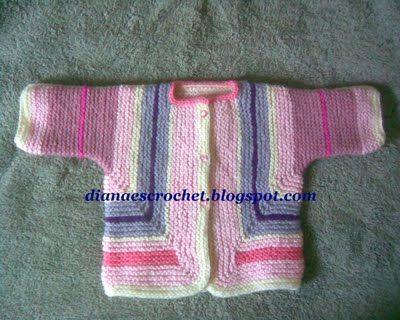 Diana es crochet: Suéter sorpresa para bebé (bsj)