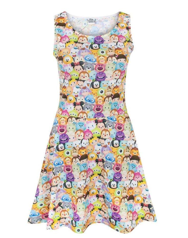 Disney Tsum Tsum Women's Skater Dress  | Clothing, Shoes & Accessories, Women's Clothing, Dresses | eBay!
