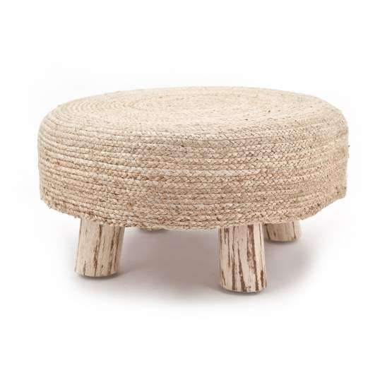 Kruk Jute large, natural By-Boo Collection Stoelen