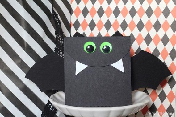 Sacolinhas de papel de vampirinho para o #halloween