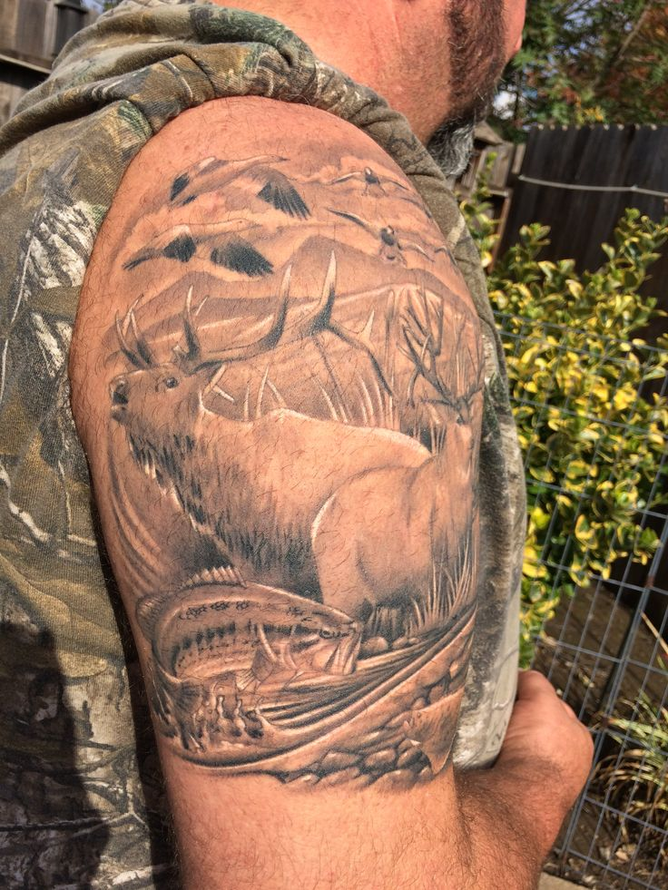 59 Best Hunting Tattoos Images On Pinterest Cool Tattoos