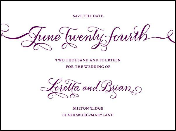Letterpress Wedding Save the dates | Loretta Formal Design | Bella Figura Letterpress