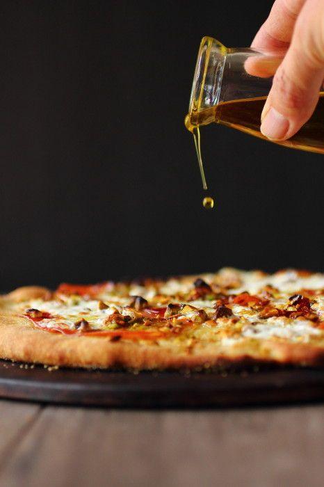 Prosciutto and Burrata Pizza with Pistachios | Foodness Gracious