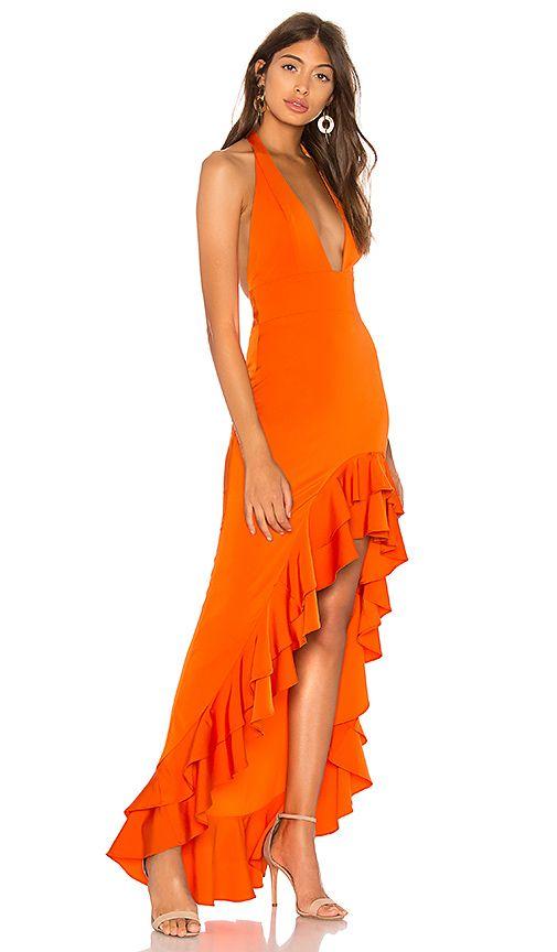 54988b4e08 Lovers + Friends Fama Gown in Poppy Orange   REVOLVE   DRESSES ...