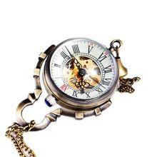 Ретро Мужчины Женщины Карманные Часы TD Лучший Бренд Класса Люкс Мужская Винтаж Механические Часы Прозрачный Скелет Часы Кулон Цепи(China (Mainland))