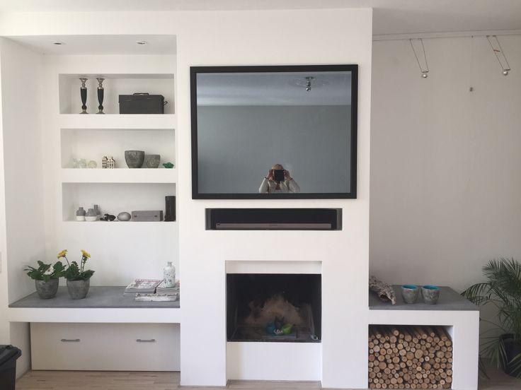 Spiegel tv boven haard mirror tv above fireplace for Spiegel tv video