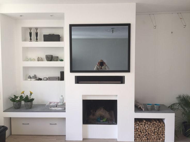 Spiegel tv boven haard mirror tv above fireplace huis for Spiegel boven dressoir