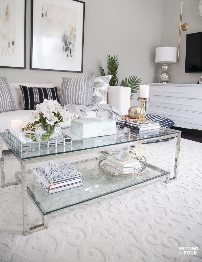 Living Room Makeover New Tv Stand Wall Art Rug Pillows Silver Living Room Living Room Makeover Wall Decor Bedroom #silver #living #room #wall #decor