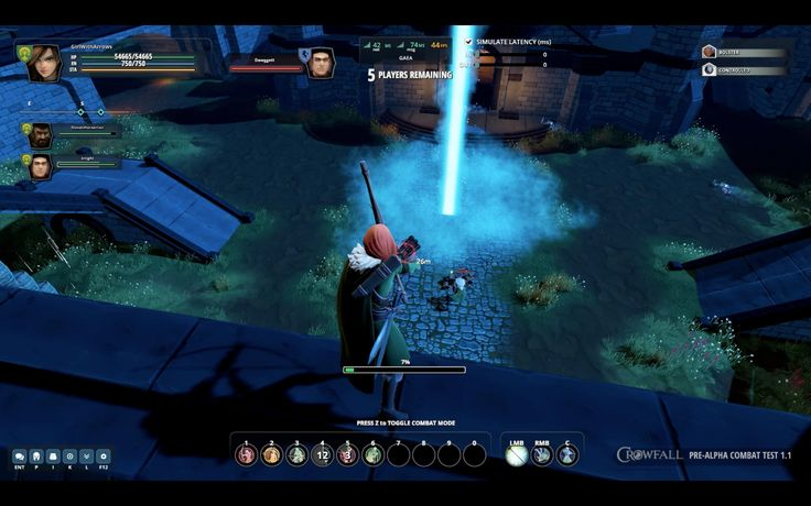 Crowfall game, Ranger in action. You can see more on https://crowfall.com/  #Crowfall #gaming #MMO #PvP #MMORPG #RPG #multiplayer #online #PC #screenshot #ranger #UI #interface #game #games