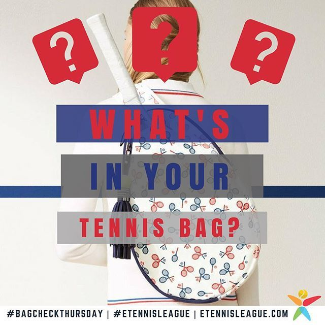 #Bagcheck again, guys! 🤗🎾🎒 It's time to send us your awesome tennis gear in Pic/Video and we'll post it! 💃💃💃⠀ #etennisleague #etennisleaguenation #bagcheckthursday #tennisbag #tennisgear #tennisequipment #tennis #tennisplayer #tennisshoes #tennisball #tennisracket #tennisraquet