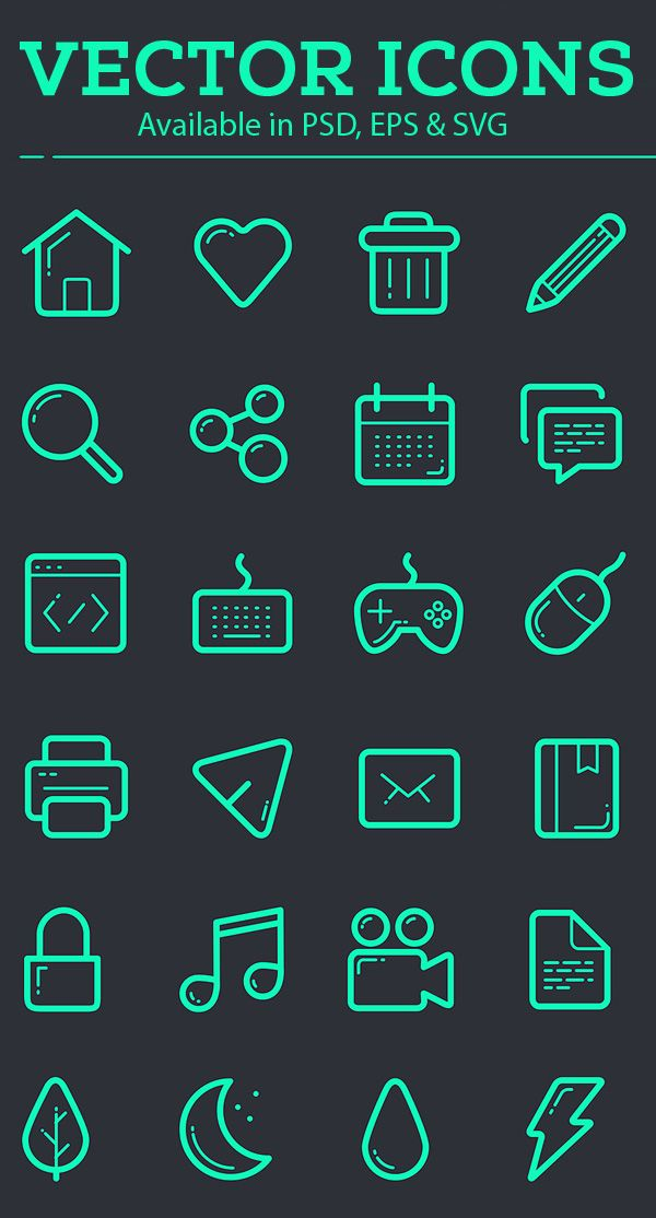 25 best Vector Icons images on Pinterest
