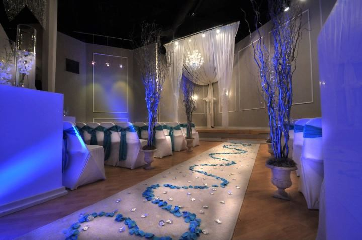 All White Indoor Wedding Ceremony Site: Wedding Venues LE BAM STUDIO