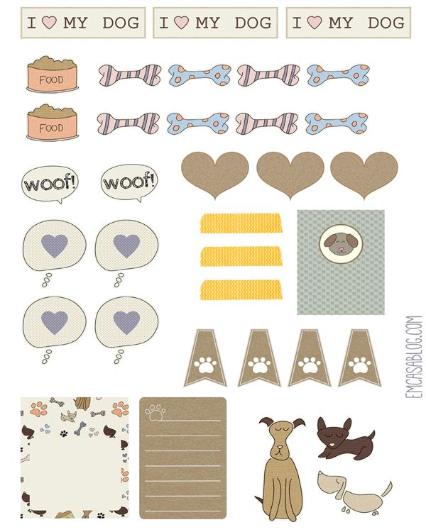 FREE printable dog planner stickers
