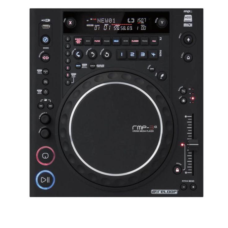 Reproductor CD Player Reloop RMP-3 Alpha con funciones de MIDI, reproduce música desde CD, USB, Disco duro o cualquier dispositivo. Precio de oferta Colombia