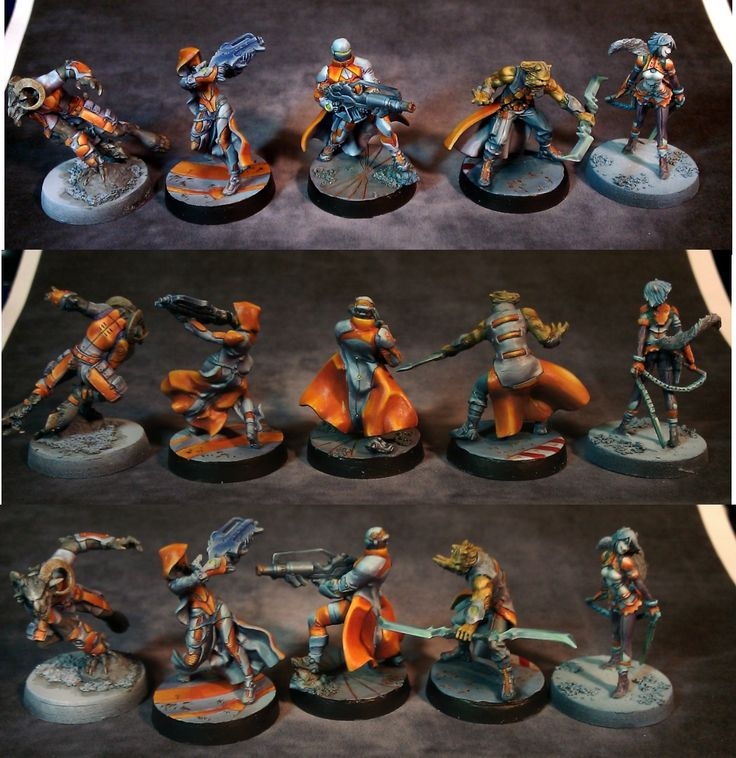 Painted Infinity miniatures by Magno - Nomads