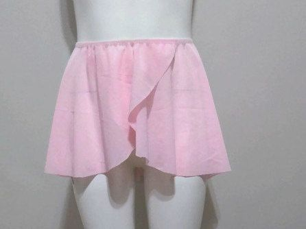 Ballet pull on wrap skirt in Pink Power Mesh by JustMyStyleBoutique on Etsy